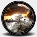 Icon: Silent-Hunter-4-U-Boat-Missions-2, mega-games-pack-26 3xhumed, Pixel: 128 x 128 px