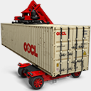 Icon: OOCL 3, container-2 antrepo, Pixel: 128 x 128 px