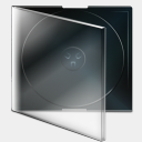 Icon: Boite Cd Vide, bagg-and-boxs babasse, Pixel: 128 x 128 px