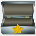 Icon: Favoris Box Metal, bagg-and-boxs babasse, Pixel: 128 x 128 px