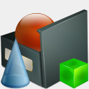 Icon: Fichier Images BMP, bagg-and-boxs babasse, Pixel: 128 x 128 px