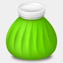 Icon: Ice-Bag, influenza cute-little-factory, Pixel: 128 x 128 px