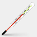 Icon: Thermometer, influenza cute-little-factory, Pixel: 128 x 128 px