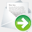 Icon: Forward New Mail, aesthetica-2 dryicons, Pixel: 64