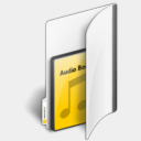 Icon: Folder Audio Book, lha-folders enhancedlabs, Pixel: 128 x 128 px