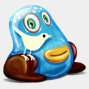 Icon: TwitterMonster, feed-twitter-monster fasticon, Pixel: 128 x 128 px
