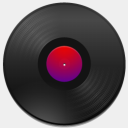Icon: Audio-CD, simple harwen, Pixel: 128 x 128 px