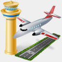 Icon: AirPort, gis-gps-map icons-land, Pixel: 128 x 128 px