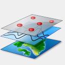 Icon: Layers, gis-gps-map icons-land, Pixel: 128 x 128 px