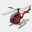 Icon: Helicopter Medical, transport icons-land, Pixel: 128 x 128 px