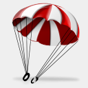 Icon: Parachute, aviation iconshock, Pixel: 128 x 128 px