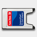 Icon: Sandisk-CompactFlash, pc-card-readers newformula.org, Pixel: 128 x 128 px