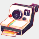 Icon: Camera-Polariod, summer-love-cicadas raindropmemory, Pixel: 128 x 128 px