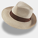 Icon: Hat-linen-trilby, hat rob-sanders, Pixel: 128 x 128 px
