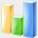 Icon: bar-chart, finance visualpharm, Pixel: 128 x 128 px