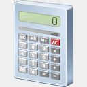 Icon: Calculator, finance visualpharm, Pixel: 128 x 128 px