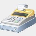 Icon: cash-register, finance visualpharm, Pixel: 128 x 128 px