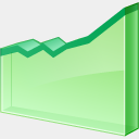 Icon: line-chart, finance visualpharm, Pixel: 128 x 128 px