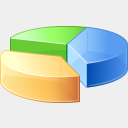Icon: Pie Chart, finance visualpharm, Pixel: 128 x 128 px