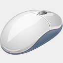 Icon: mouse, hardware visualpharm, Pixel: 128 x 128 px